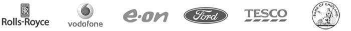 Galsys częściowa lista klientów, Rolls-Royce, Vodaphone, EON, Ford, Tesco, Bank Anglii