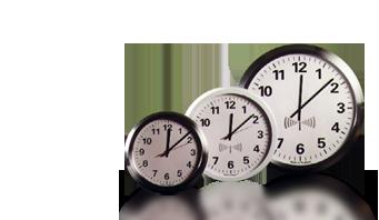 radiowy analogowy zegar ścienny